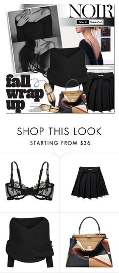 """""""Tout noir"""" by purpleagony on Polyvore featuring Marc Jacobs, Christies, Abercrombie & Fitch, Fendi and Jimmy Choo"""