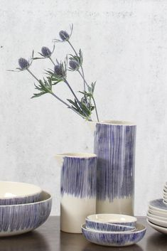 Indigo Scratch ceramic jug - Decorator's notebook