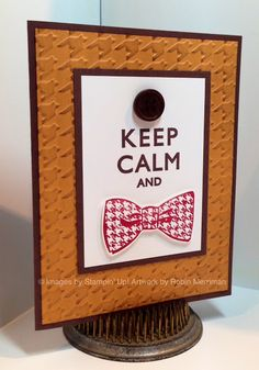 A card for the Dr. Who fan in your life. Created with the Dapper Dad stamp set from Stampin' Up! #Dr.Who