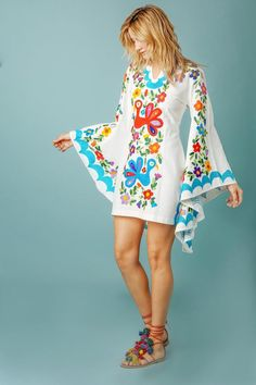Pachamama Tunic, Teal. Free shipping. It had better be for the price! It is SUPER cute, though! With the shoes, natch.....