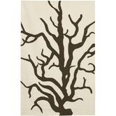 Found it at AllModern - Flat-weave Dhurrie Cream/Brown Coral Rug