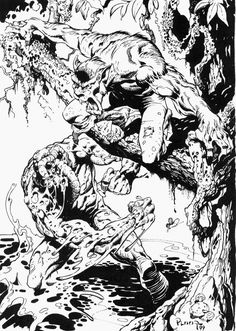 Werewolf by Night and Man-Thing by Mike Ploog