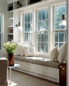 lovely window seat for reading