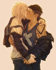 """2,064 Likes, 2 Comments - BL  YAOI HERE  BL (@fujoshi_kohai) on Instagram: """"So hot ~~ I LOVE THEM    © to OWNER (if you know, then please tell me )   _ _ _#yurionice…"""""""