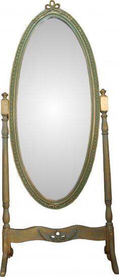 Casa Padrino Barock Standspiegel Schwenkbar Grün-Gold Antik Look - Spiegel Gold - Barock Shabby Chic Möbel 1
