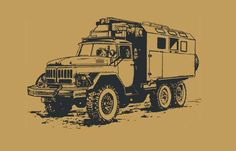 ZIL-131 Cargo Truck Free Vehicle Paper Model Download
