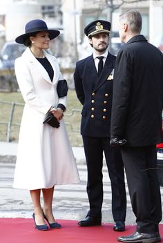 Royals & Fashion - Princess Victoria and Prince Carl Philip attended a ceremony in Stockholm to pay tribute to the Swedish soldiers who participated in the winter war in Finland (war between Finland and the Soviet Union between November 1939 and March 1940).