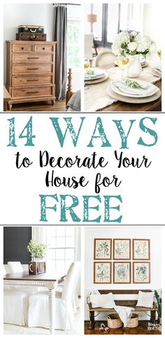 Tried and true ways to decorate and refresh your home completely for free (and maybe even make a little money in the process). #decorating #homedecor #budgetdecor