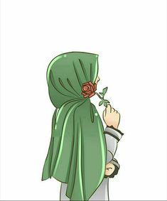 Illustrations And Posters Cute Cartoon Girl, Cartoon Art, Vector Character, Portrait Vector, Hijab Drawing, Islamic Cartoon, Anime Muslim, Hijab Cartoon, Islamic Girl