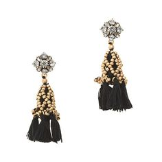 another favorite, such a stunner - Crystal tassel earrings