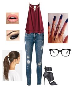 Sem título #829 by rebecadejesusbeca on Polyvore featuring moda, Frame Denim, Giuseppe Zanotti, Tasha and Forever 21