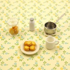hot milk and cream biscuit for dollhouse