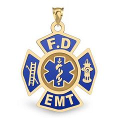 EMT Necklaces and EMT Charms celebrate and honor emergency medical technicians. Give an EMT necklace or other Medical Jewelry to someone special - Ems Week, Paramedic Gifts, Firefighter Emt, Emergency Medical Technician, Emergency Responder, Fire Department, Badges, Gift Ideas, Pendant