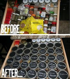 Spice it up ~ Organizing Your Spice Drawer