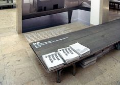 lettering on floor/surface.  venice biennale 2012: german pavilion