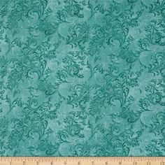 Essentials Embellishment Teal from @fabricdotcom  Designed for Wilmington Prints, this tonal cotton print fabric is perfect for quilting, apparel and home decor accents.