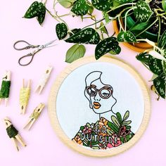 Have you stitched up this months #stitchventure pattern collab with @alexiswinter?! I mounted mine in a wooden hoop by @auburnhoops and I am just IN LOVE with it. Head on over and check them out (while I get back to work making patterns and assembling kits like a BOSS). #embroidery #handembroidery #fiberart #fiberartist #gulushthreads #modernembroidery #contemporaryembroidery #psimadethis #studio #pink #collaboration #gooutside #foundinnature #abmcrafty #dmcthreads