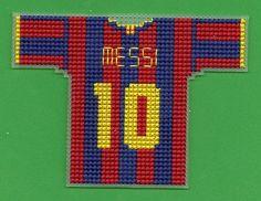 FC Barcelona : Mini Soccer Jersey Cross Stitch by TheENDZONE