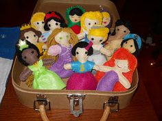 my love of felt, and Stella's love of the Princesses - great combination