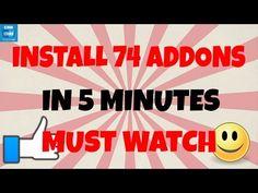 INSTALL KODI ADDONS - 74 of them in 5 MINUTES