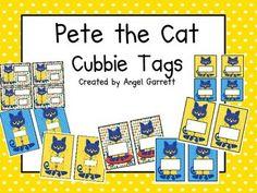 pete the cat activities | Pete the Cat Cubbie Tags