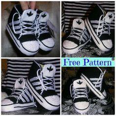 Crochet Adidas Sneakers – Free Pattern & Video Tutorial #freecrochetpattern #sneakert #adidas