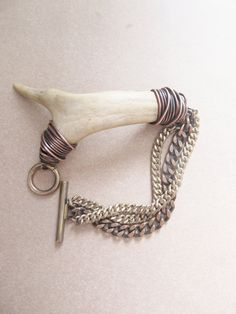 Antler Bracelet Wire Wrapped Bracelet Rustic Jewelry A Game of Thrones Jewelry  Deer Antler Jewelry DanielleRoseBean Unisex Bracelet. $62.00, via Etsy.