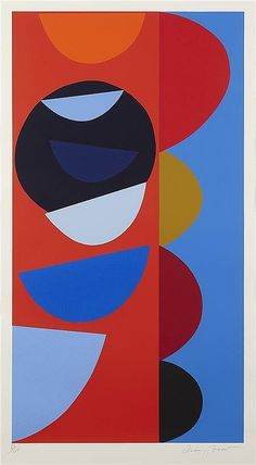 § SIR TERRY FROST R.A (BRITISH 1915-2003) UNTITLED 118cm x 74.5cm (46.5in x 29.25in)