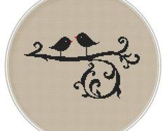 Amo Ave cruz puntada patrón Instant Download por MagicCrossStitch