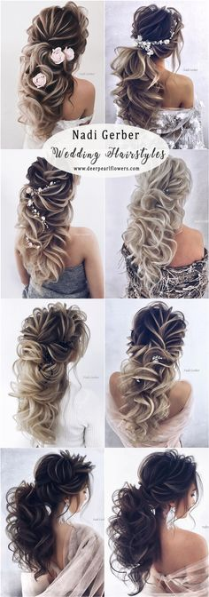 long wavy wedding hairstyles from Nadi Gerber - - long wavy wedding hairstyles from Nadi Gerber Beauty Makeup Hacks Ideas Wedding Makeup Looks for Women M. Messy Bun Wedding, Curly Wedding Hair, Hairdo Wedding, Wedding Hairstyles For Long Hair, Braided Hairstyles, Prom Hairstyles, Wedding Ponytail, Wedding Dress, Bohemian Hairstyles