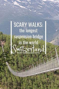 Hiking Zermatt: The Longest Pedestrian Suspension Bridge In The World! – Trail Advocacy – Famous Last Words Switzerland Travel Guide, Switzerland Itinerary, Places In Switzerland, Switzerland Vacation, Zermatt, Grindelwald Switzerland, Cool Places To Visit, Places To Travel, Travel Destinations
