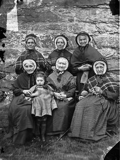 A group of women from Ysbyty Ifan almshouses by LlGC ~ NLW.