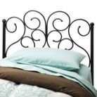 Scroll Metal Headboard - Black (Twin) Quick Information Lily: paint gold? silver?