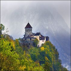 The tiny country of Liechtenstein is tucked in between Switzerland and Austria.  This is Vaduz Castle.