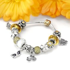 A Significant Discount For Pandora It's a Sunshine Day Charm Bracelet(MWJEw0)…