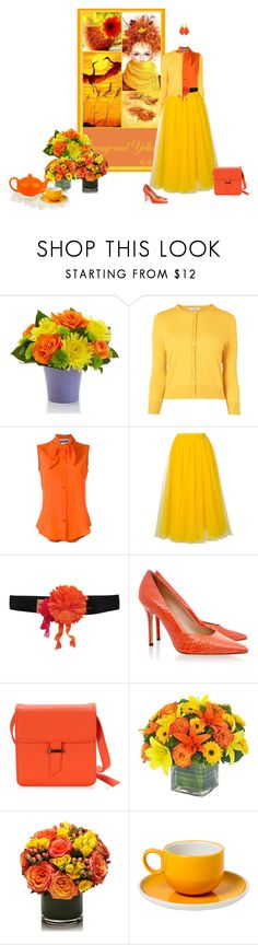 """Untitled #7444"" by msdanasue ❤ liked on Polyvore featuring L.K.Bennett, Moschino, Rochas, Lanvin, Aperlaï, Waechtersbach, MANGO and Fantasy Jewelry Box"