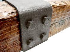 wood beams steel bracket decorative - Google Search