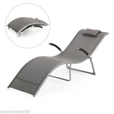 Luxury Sun Lounger, Garden, Patio Chair - Folds Away For Easy Storage | eBay