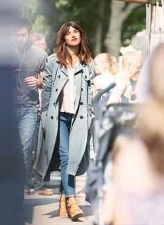 longer lengths- super fresh. grey trench