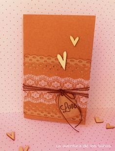 Tarjeta scrapbook bpara boda