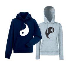 Komplet mikiny s kapucňou pre páry Yang Yin Hoodies, Sweaters, Fashion, Places, Moda, Sweatshirts, Fashion Styles, Parka, Sweater