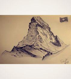 Matterhorn, Switzerland- Sketch