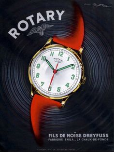Rotary Watch Company ad ‹ Strickland Vintage Watches