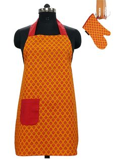 Buy this unisex kitchen apron and oven glove set - 1 apron  amp  1 glove b9c409f62a10