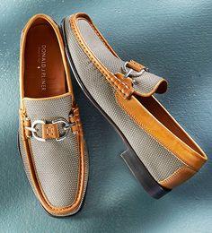 Donald J. Pliner Mesh Loafers