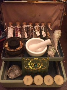 A personal favorite from my Etsy shop https://www.etsy.com/listing/481508281/herbal-magick-spell-box-witch-box