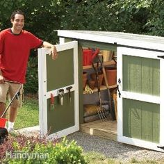 Outdoor Storage Locker you can make in a weekend