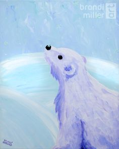 """Curious Polar Bear"" painting by Brandi Miller Art"