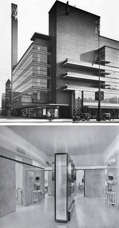 "n-architecture: "" The De Bijenkorf department store, Rotterdam Willem Marinus Dudok, "" Architecture Board, Contemporary Architecture, Interior Architecture, Commercial Architecture, Rotterdam, Art Deco, Bauhaus Art, Streamline Moderne, Famous Architects"