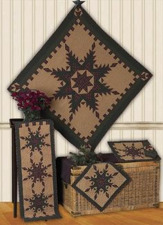 Feather Star Quilt Block and Accessories